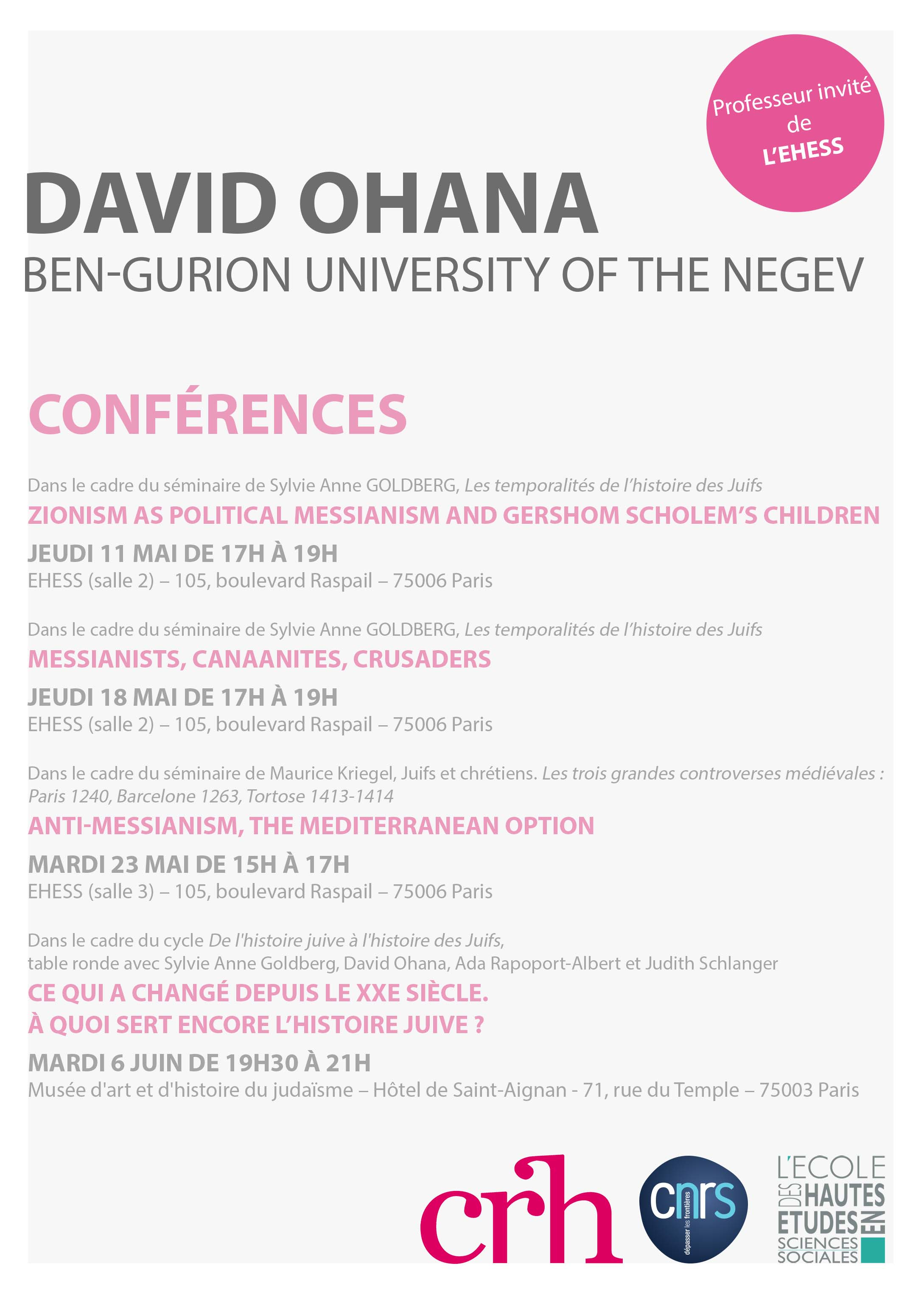 David Ohana (Ben-Gurion University of the Negev)