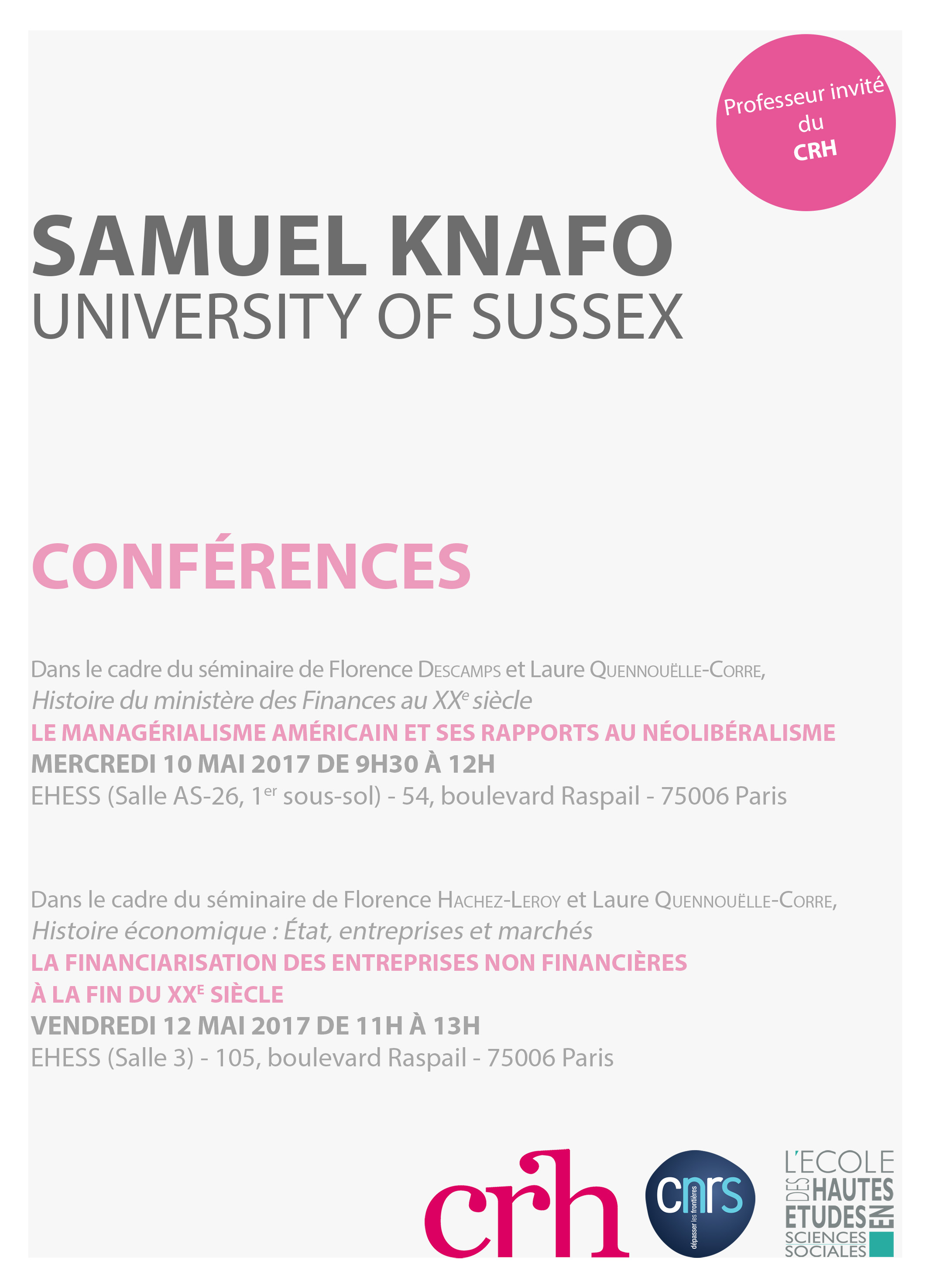 Samuel Knafo (University of Sussex)