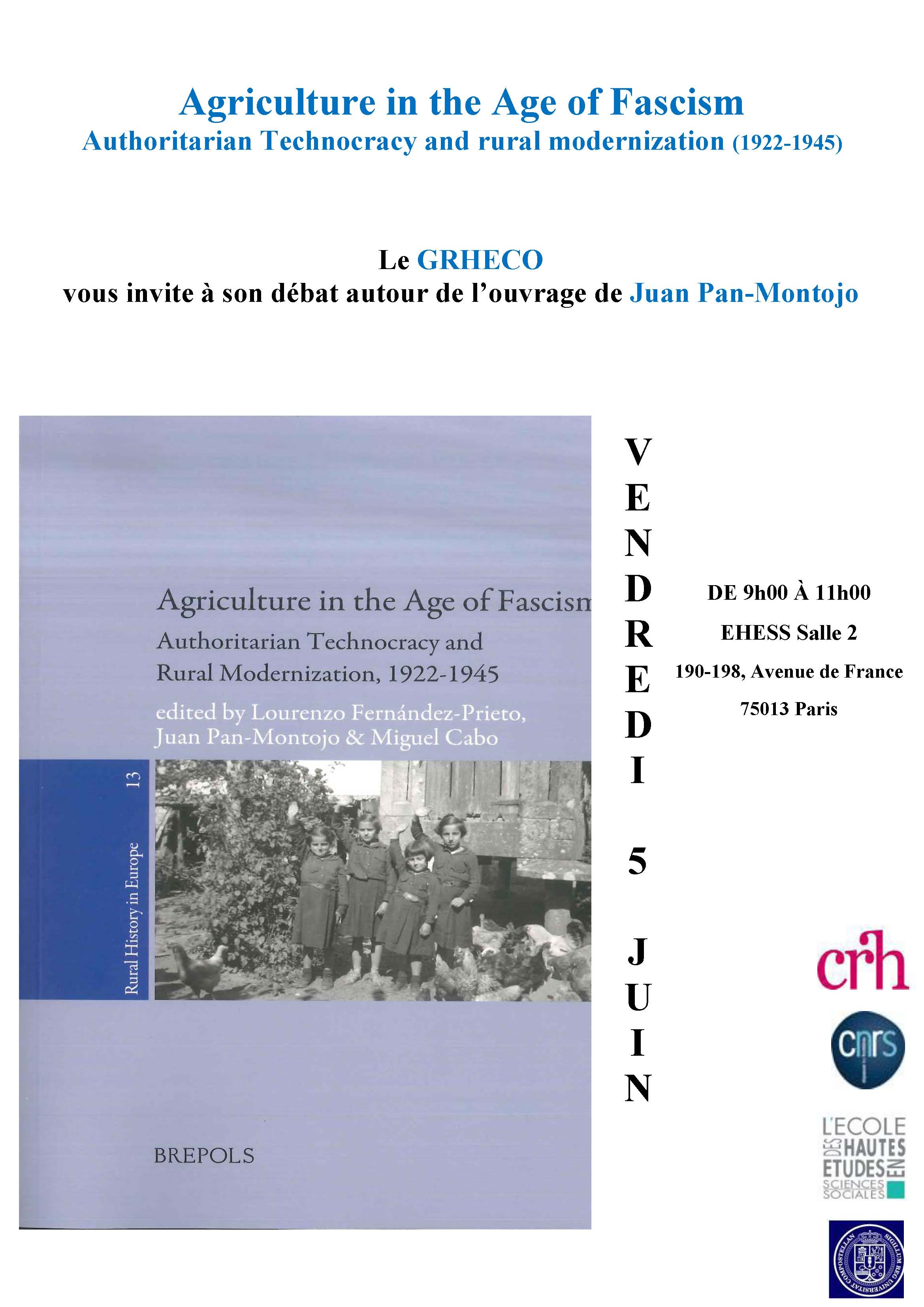 Agriculture in the Age of Fascism. Authoritarian Technocracy and rural modernization, 1922-1945