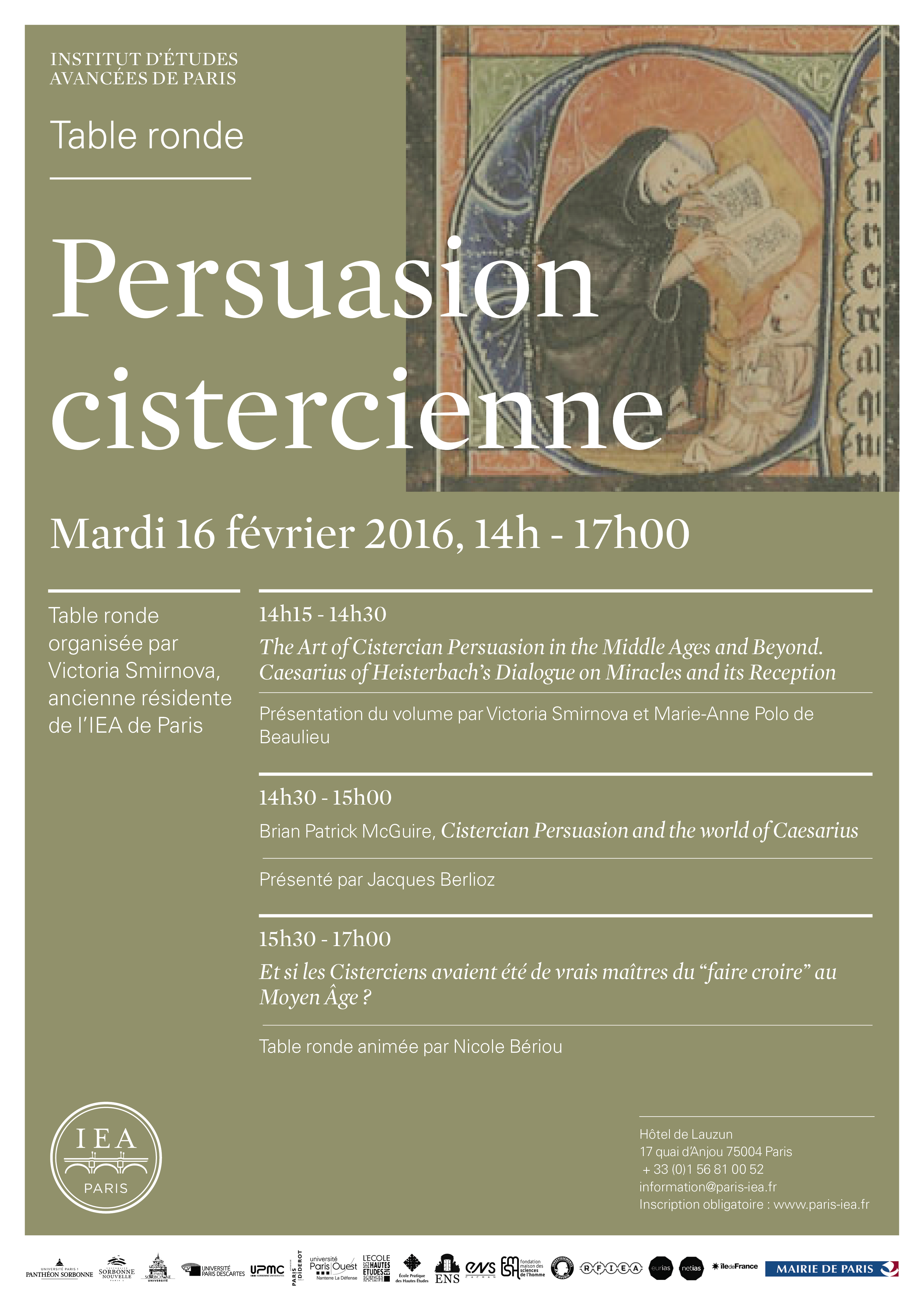 Présentation de l'ouvrage The Art of Cistercian Persuasion in the Middle Ages and Beyond