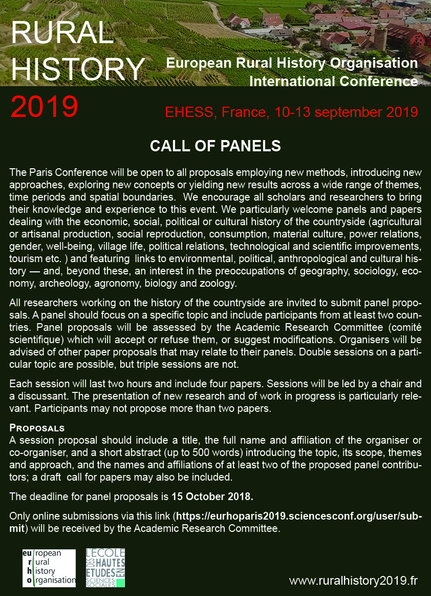 Rural History 2019 - 4th EURHO Conference