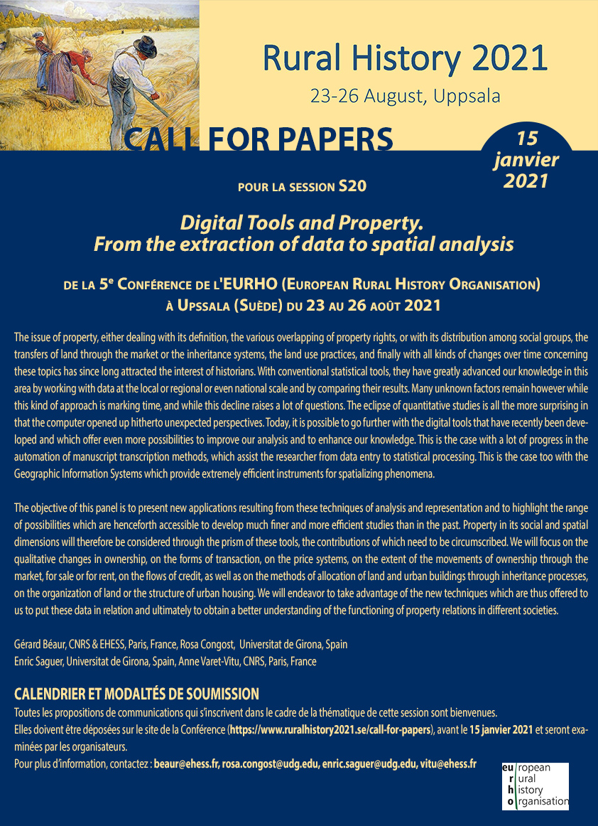 Digital Tools and Property. From the extraction of data to spatial analysis